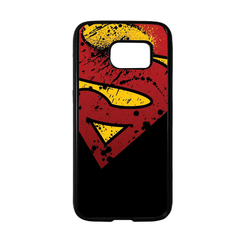 HEAVENCASE Motif Superhero Superman 11 Casing for Samsung Galaxy S7 - Hitam