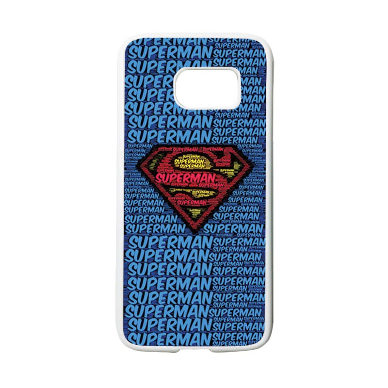 HEAVENCASE Motif Superhero Superman 12 Casing for Samsung Galaxy S7 - Putih