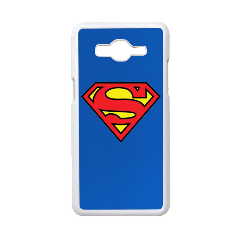 HEAVENCASE Motif Superhero Superman 13 Casing for Samsung Galaxy Grand Prime - Putih