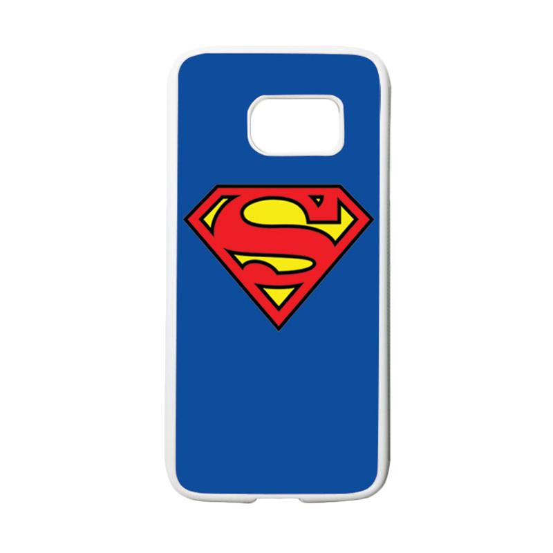 HEAVENCASE Motif Superhero Superman 13 Casing for Samsung Galaxy S7 - Putih