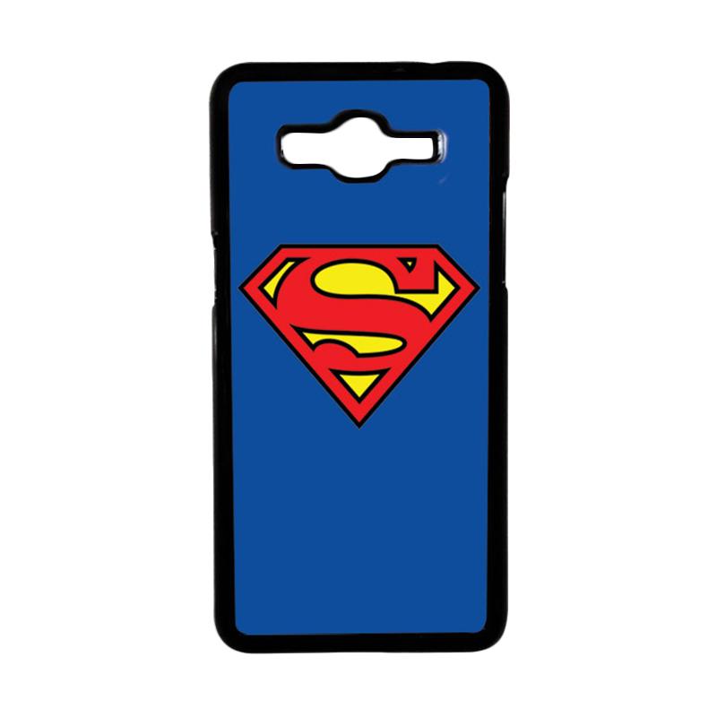 Heavencase Motif Superhero Superman 13 Hardcase Casing for Samsung Galaxy Grand Prime - Hitam