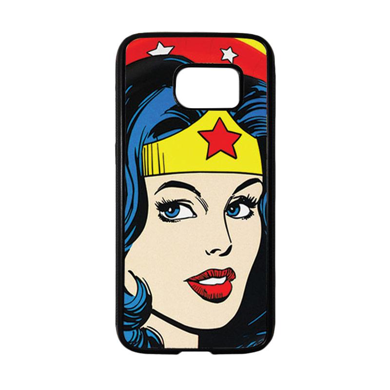HEAVENCASE Motif Superhero Wonder Woman 01 Casing for Samsung Galaxy S7 - Hitam