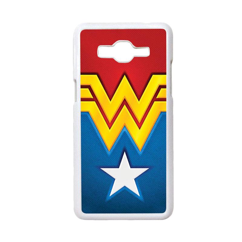 HEAVENCASE Motif Superhero Wonder Woman 02 Casing for Samsung Galaxy Grand Prime - Putih