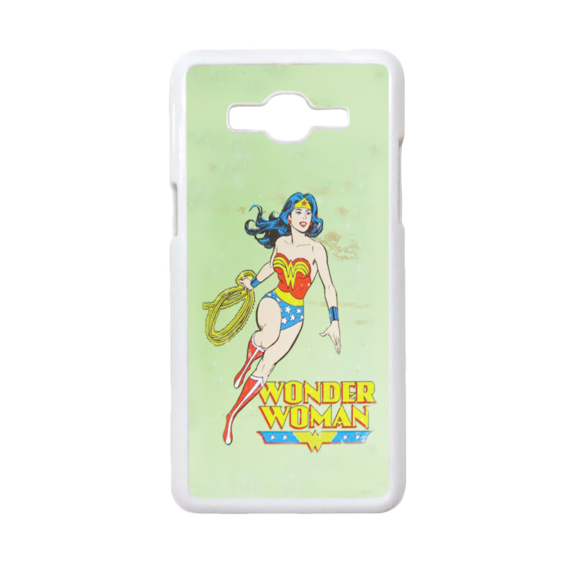 HEAVENCASE Motif Superhero Wonder Woman 04 Casing for Samsung Galaxy Grand Prime - Putih