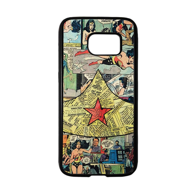 HEAVENCASE Motif Superhero Wonder Woman 05 Casing for Samsung Galaxy S7 - Hitam