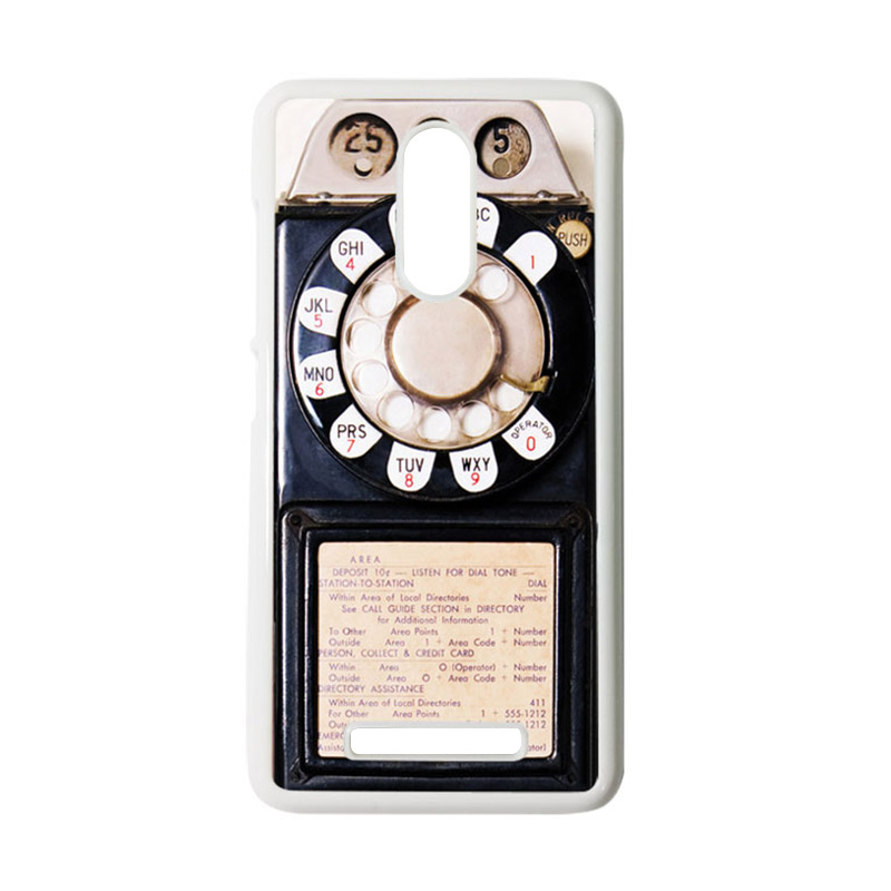 HEAVENCASE Motif Telephone 10 Casing for Xiaomi Redmi Note 3 - Putih