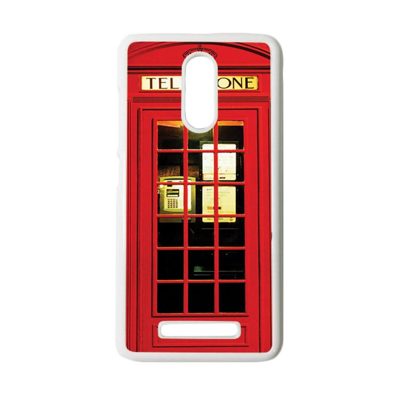 HEAVENCASE Motif Telephone 14 Casing for Xiaomi Redmi Note 3 - Putih