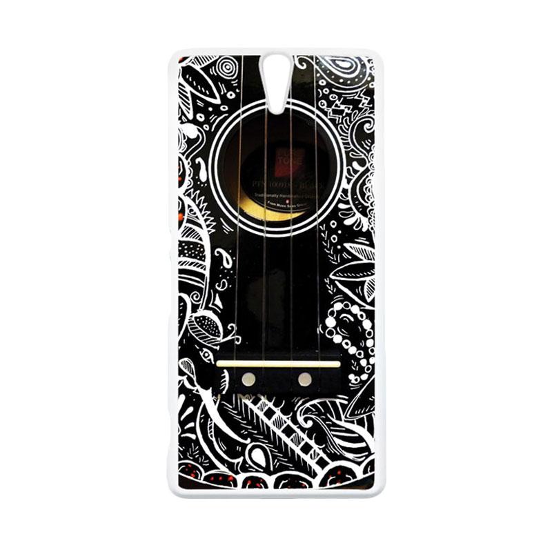 HEAVENCASE Motif Unik Real Stuff 03 Casing for SONY Xperia C5 Ultra - Putih