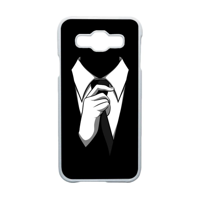 HEAVENCASE Motif Unik Tuxedo Casing for Samsung Galaxy E5 - Putih