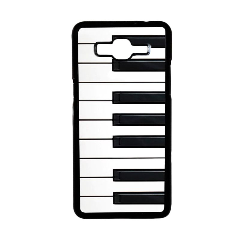 Heavencase Piano Keyboard 02 Black Hardcase Casing for Samsung Galaxy Grand Prime