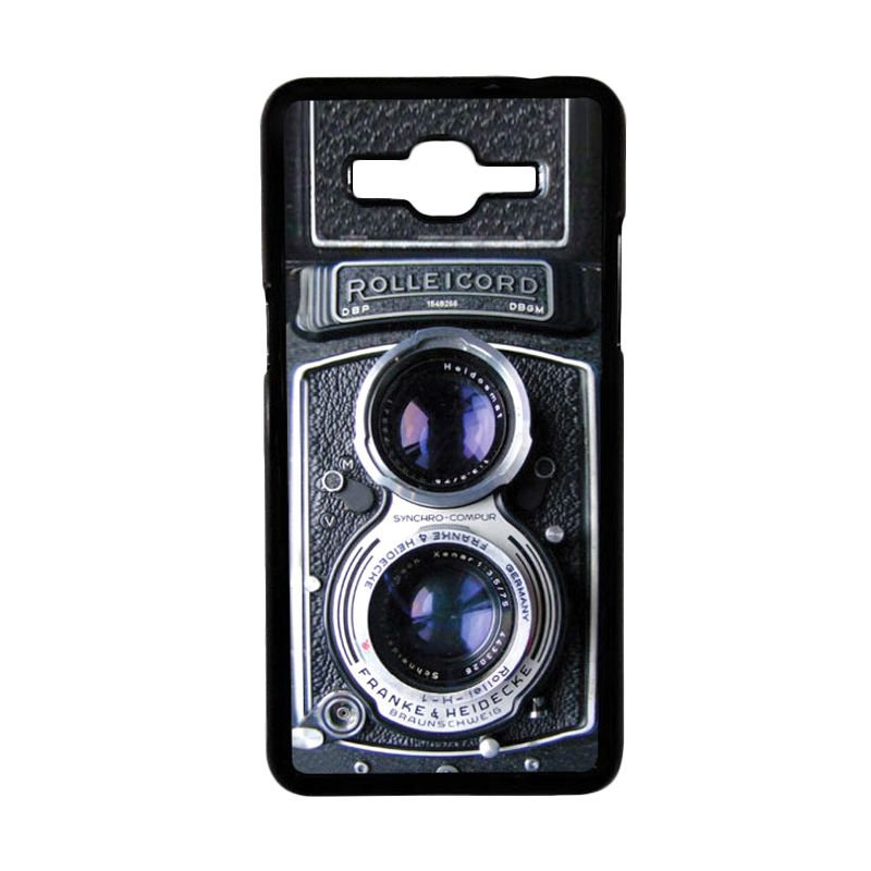 Heavencase Retro Camera Rolleicord 06 Black Hardcase Casing for Samsung Galaxy Grand Prime