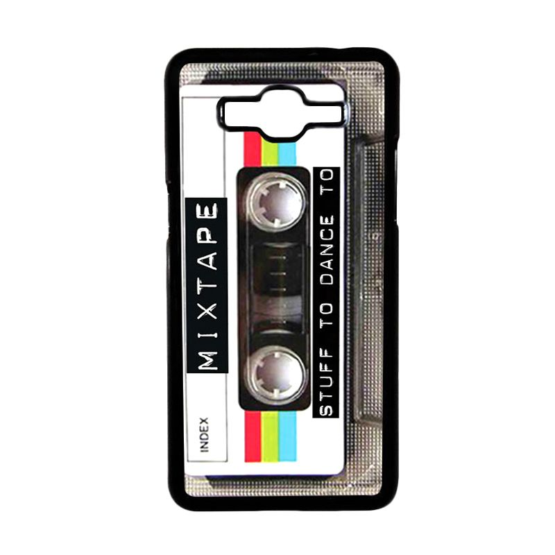 Heavencase Retro Cassette Mixtape 05 Black Hardcase Casing for Samsung Galaxy Grand Prime