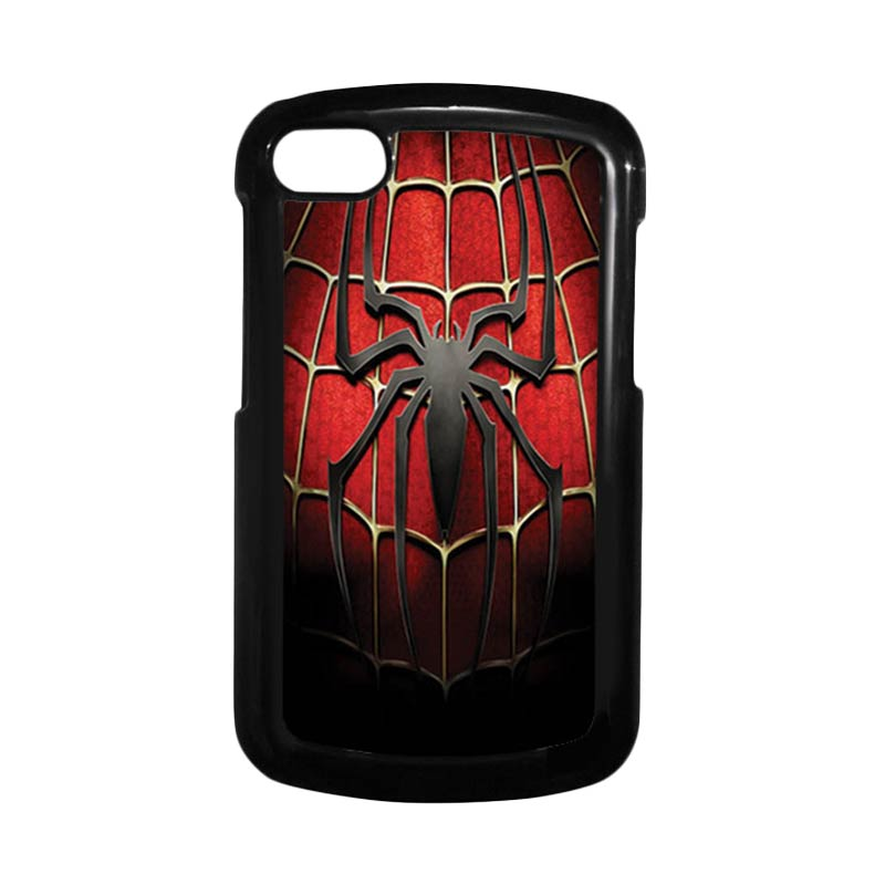 HEAVENCASE Spiderman 01 Hitam Hardcase Casing for Blackberry Q10