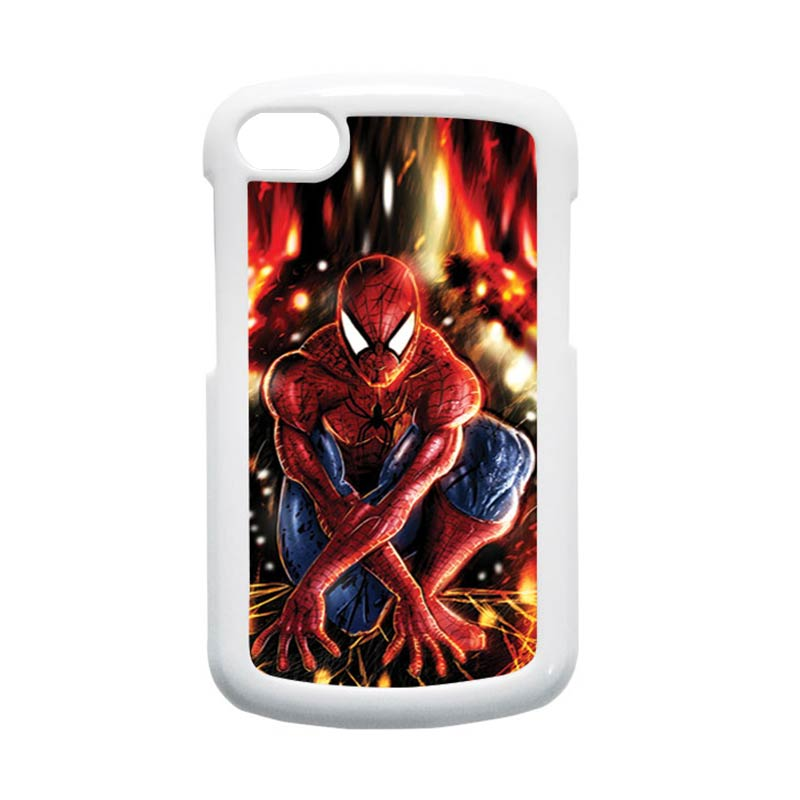 HEAVENCASE Spiderman 06 Hardcase Putih Casing for Blackberry Q10