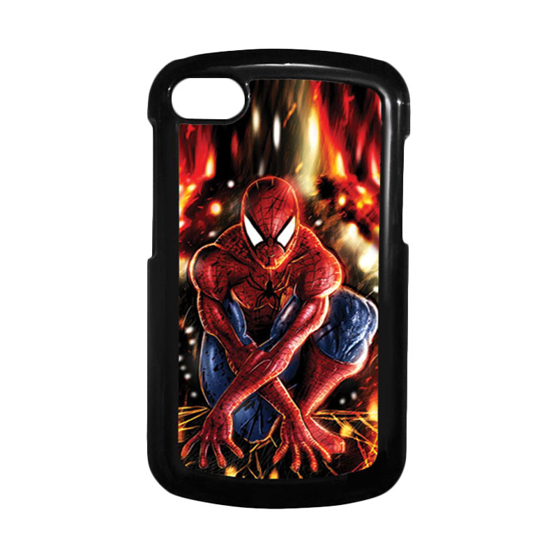HEAVENCASE Spiderman 06 Hitam Hardcase Casing for Blackberry Q10