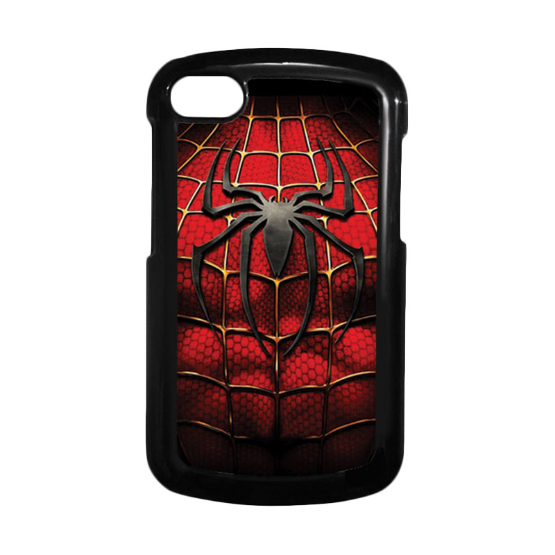 HEAVENCASE Spiderman 08 Hitam Hardcase Casing for Blackberry Q10