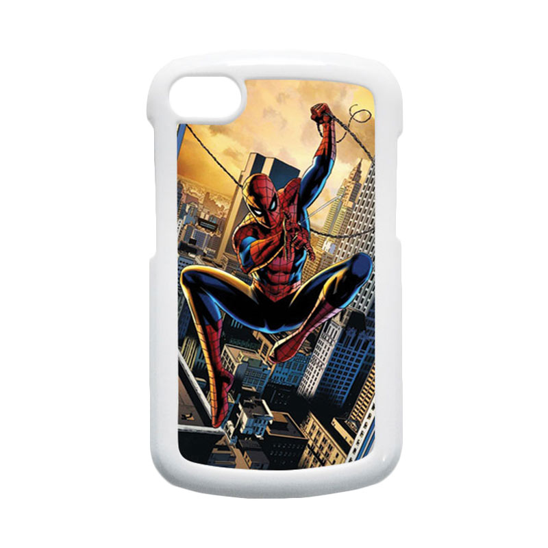HEAVENCASE Spiderman 10 Hardcase Putih Casing for Blackberry Q10