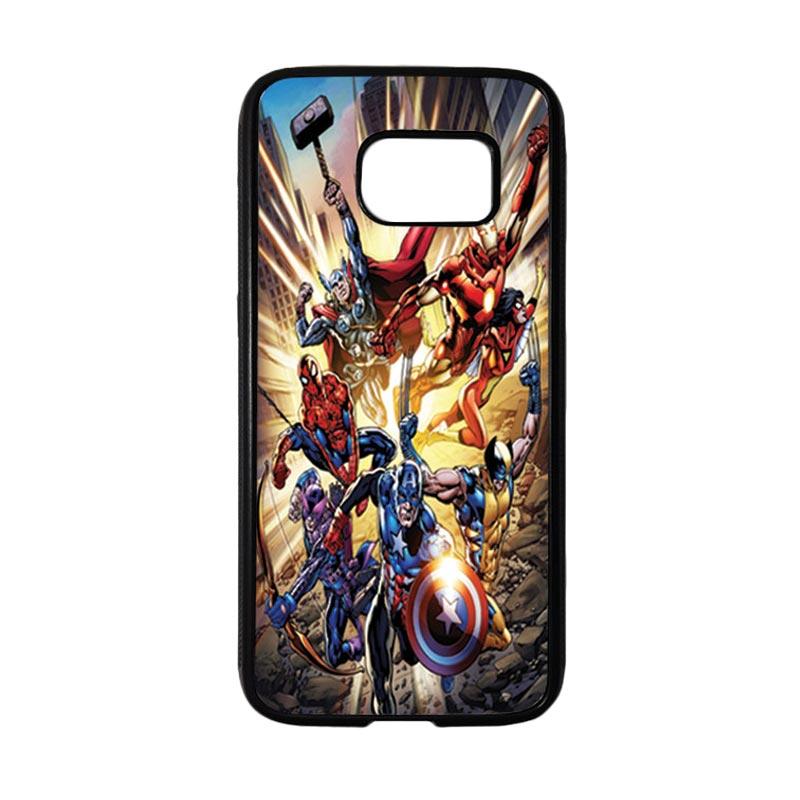 HEAVENCASE Superhero Avengers 01 Casing for Samsung Galaxy S7 - Hitam