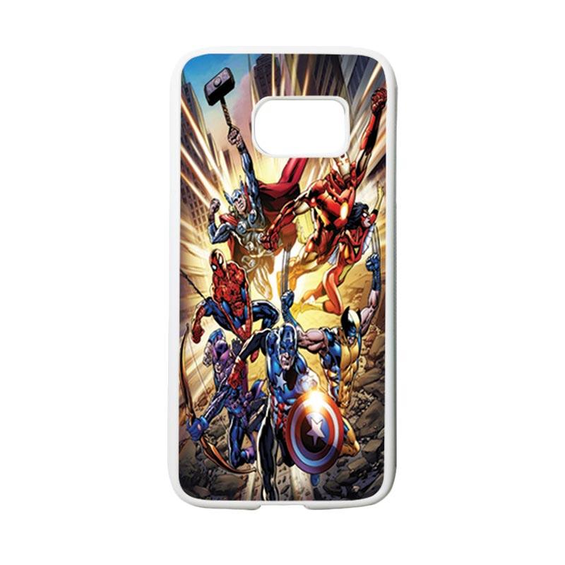 HEAVENCASE Superhero Avengers 01 Casing for Samsung Galaxy S7 - Putih