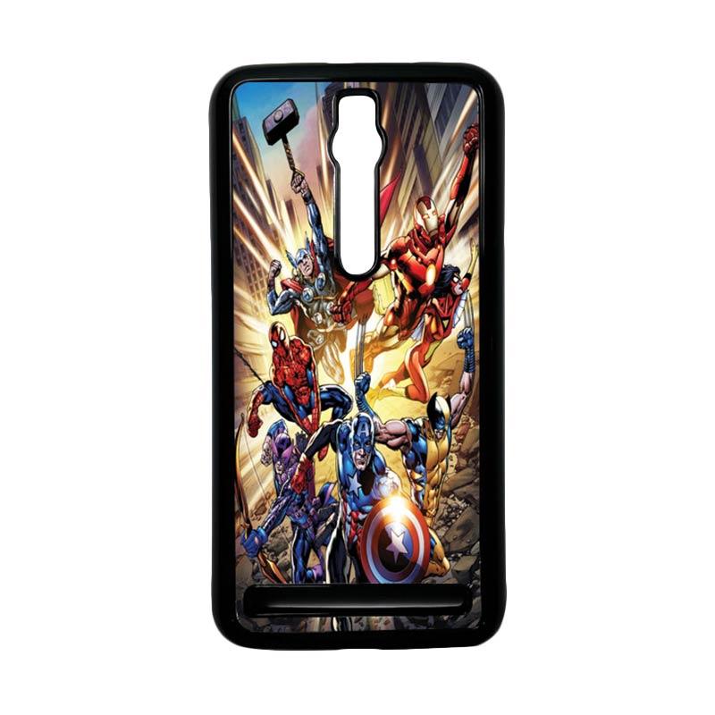 Heavencase Superhero Avengers 01 Hardcase Casing for Asus Zenfone 2 ZE551ML or ZE550ML - Hitam