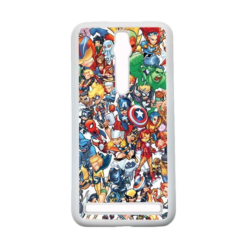 HEAVENCASE Superhero Avengers 02 Hardcase Casing for Asus Zenfone 2 Ze551ml or Ze550ml - Putih