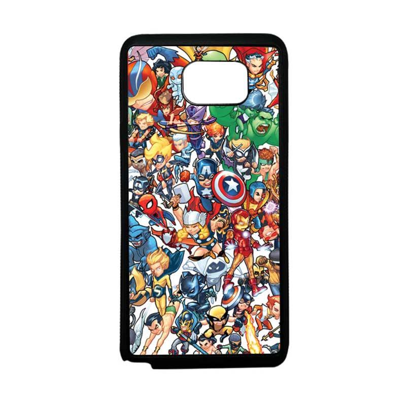 HEAVENCASE Superhero Avengers 02 Softcase Bumper TPU Casing for Samsung Galaxy Note 5 - Hitam