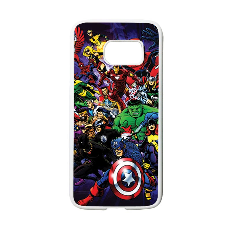 HEAVENCASE Superhero Avengers 03 Casing for Samsung Galaxy S7 - Putih