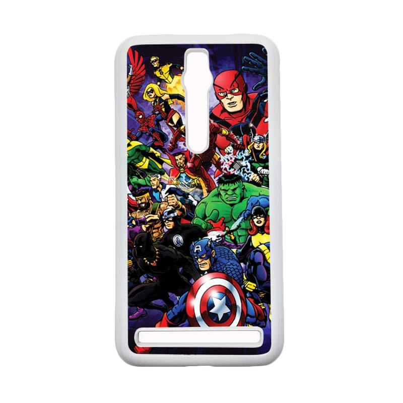 HEAVENCASE Superhero Avengers 03 Hardcase Casing for Asus Zenfone 2 Ze551ml or Ze550ml - Putih