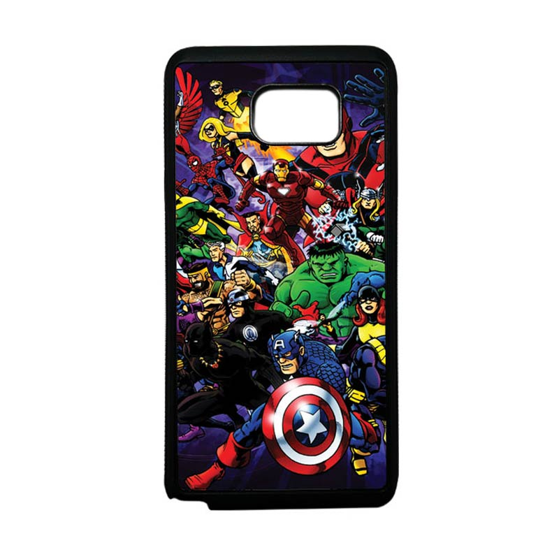 HEAVENCASE Superhero Avengers 03 Softcase Bumper TPU Casing for Samsung Galaxy Note 5 - Hitam