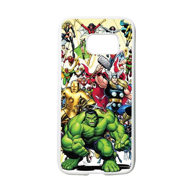 HEAVENCASE Superhero Avengers 04 Casing for Samsung Galaxy S7 - Putih