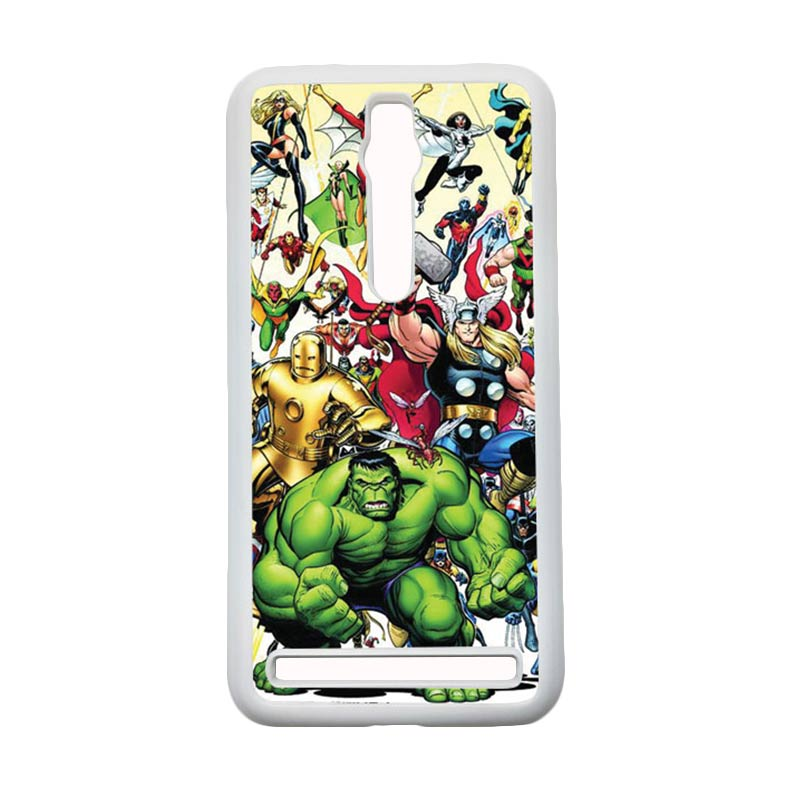 HEAVENCASE Superhero Avengers 04 Hardcase Casing for Asus Zenfone 2 Ze551ml or Ze550ml - Putih