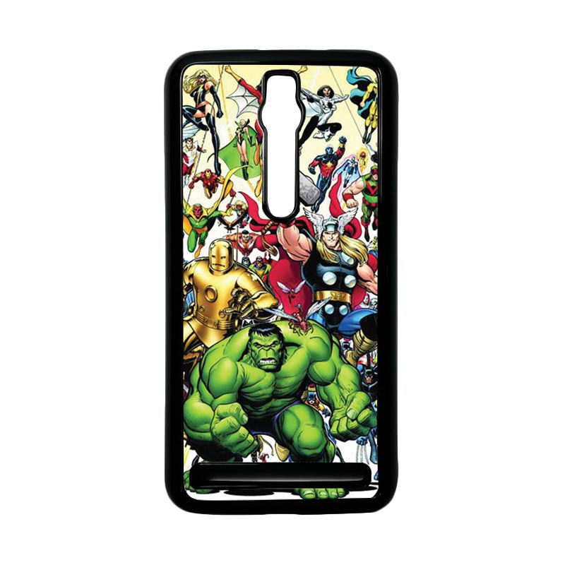 Heavencase Superhero Avengers 04 Hardcase Casing for Asus Zenfone 2 ZE551ML or ZE550ML - Hitam