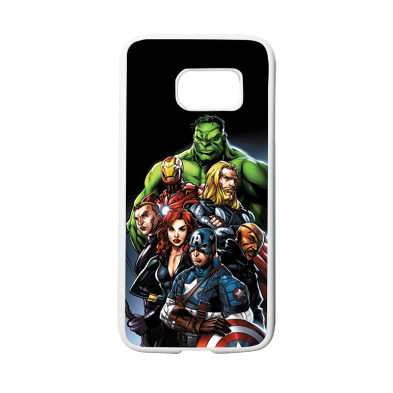 HEAVENCASE Superhero Avengers 05 Casing for Samsung Galaxy S7 - Putih