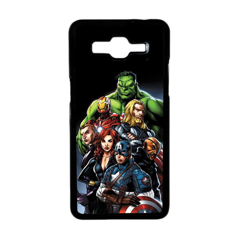 HEAVENCASE Superhero Avengers 05 Hardcase Casing for Samsung Galaxy Grand Prime - Hitam
