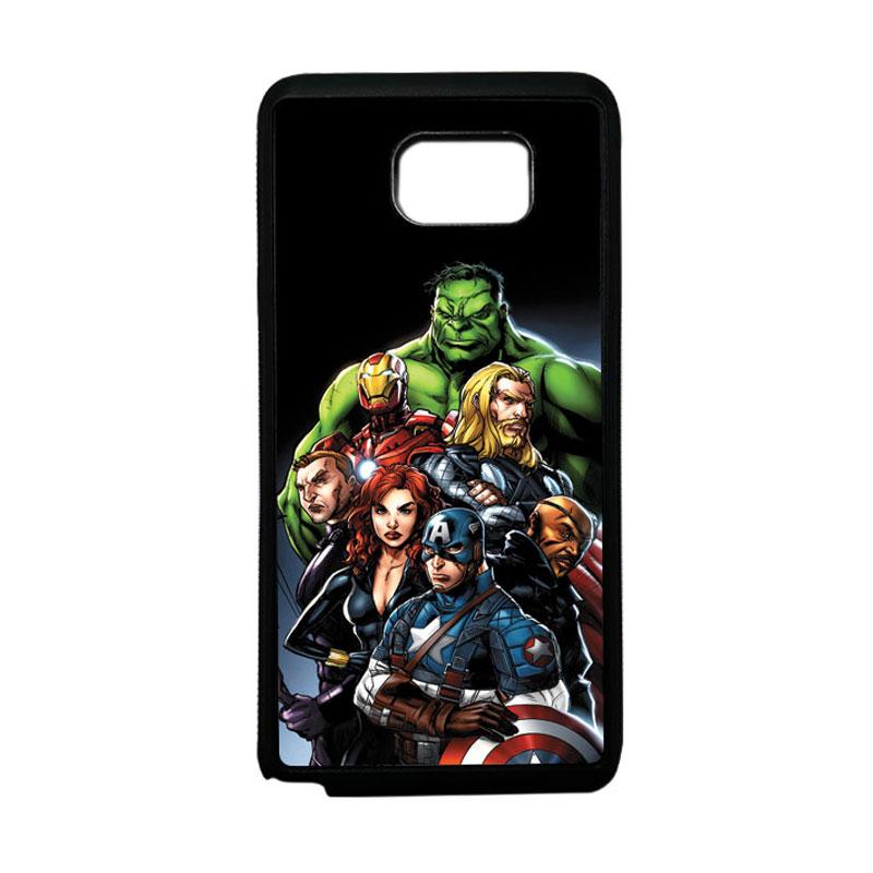 HEAVENCASE Superhero Avengers 05 Softcase Bumper TPU Casing for Samsung Galaxy Note 5 - Hitam