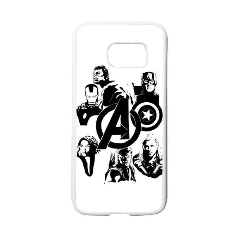 HEAVENCASE Superhero Avengers 06 Casing for Samsung Galaxy S7 - Putih