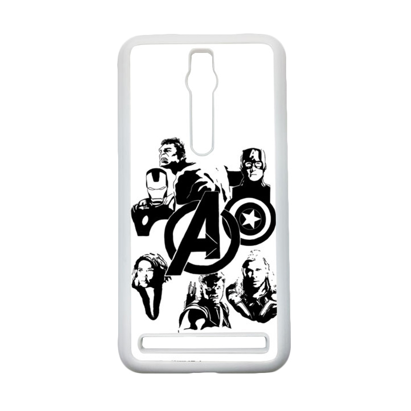 Heavencase Superhero Avengers 06 Hardcase Casing for Asus Zenfone 2 ZE551ML or ZE550ML - Putih