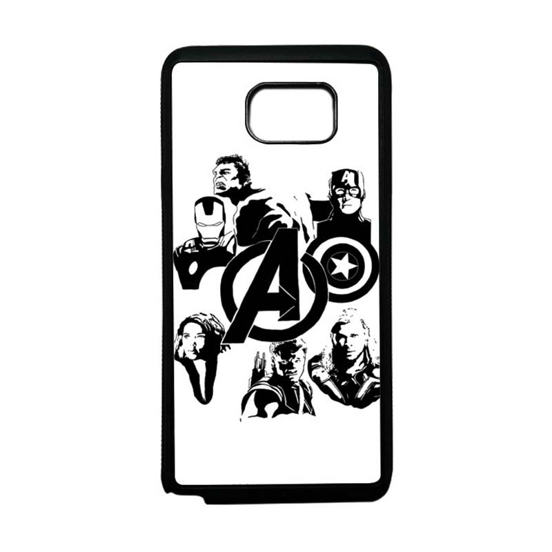 HEAVENCASE Superhero Avengers 06 Softcase Bumper TPU Casing for Samsung Galaxy Note 5 - Hitam