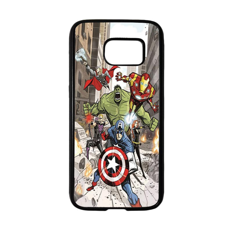 HEAVENCASE Superhero Avengers 08 Casing for Samsung Galaxy S7 - Hitam