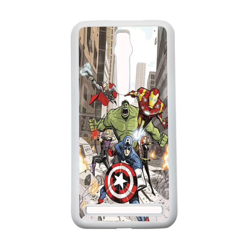 Heavencase Superhero Avengers 08 Hardcase Casing for Asus Zenfone 2 ZE551ML or ZE550ML - Putih