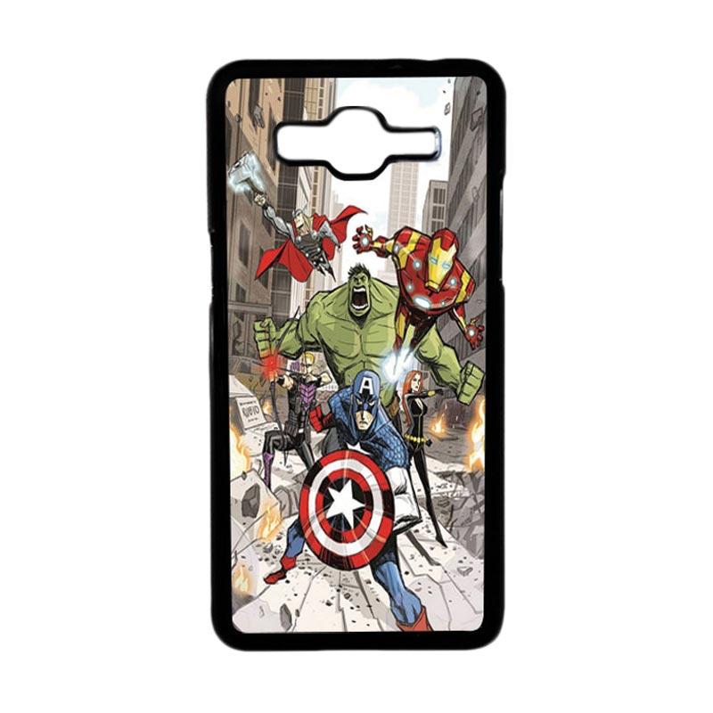 HEAVENCASE Superhero Avengers 08 Hardcase Casing for Samsung Galaxy Grand Prime - Hitam