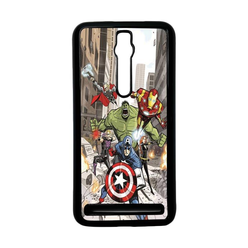 Heavencase Superhero Avengers 08 Hardcase Casing for Asus Zenfone 2 ZE551ML or ZE550ML - Hitam