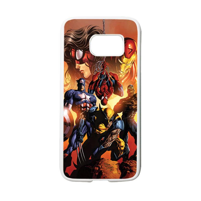 HEAVENCASE Superhero Avengers 09 Casing for Samsung Galaxy S7 - Putih