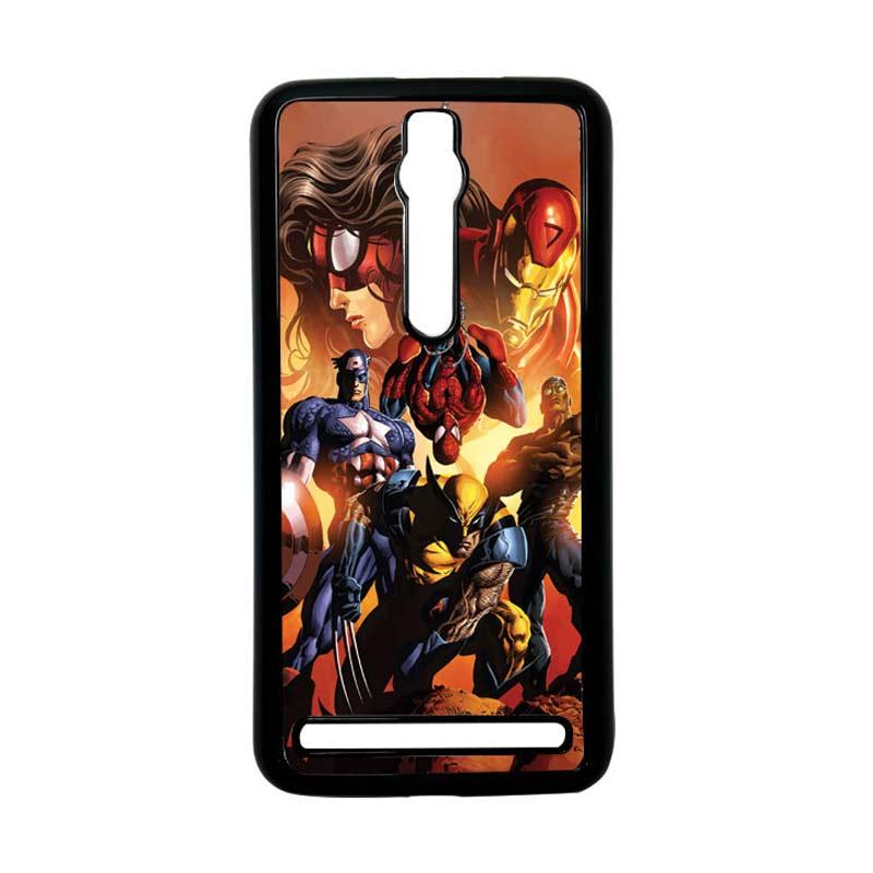 Heavencase Superhero Avengers 09 Hitam Hardcase Casing for Asus Zenfone 2 Ze551ml or Ze550ml