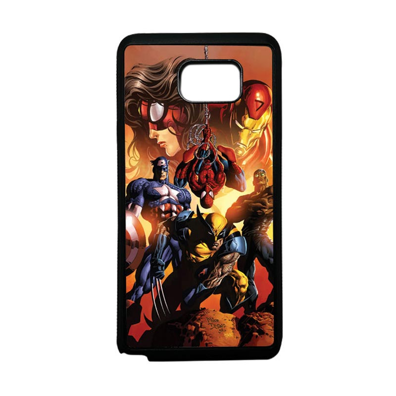 HEAVENCASE Superhero Avengers 09 Softcase Bumper TPU Casing for Samsung Galaxy Note 5 - Hitam