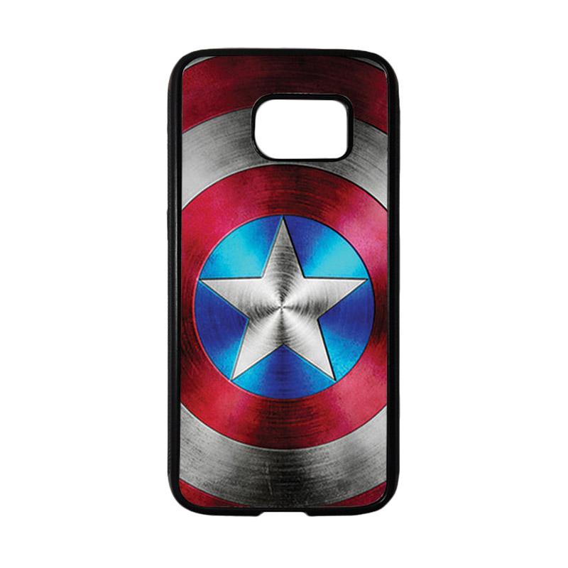 HEAVENCASE Superhero Captain America 01 Casing for Samsung Galaxy S7 - Hitam