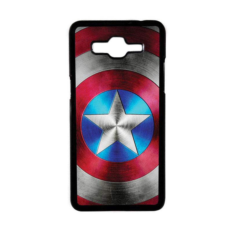 HEAVENCASE Superhero Captain America 01 Hardcase Casing for Samsung Galaxy Grand Prime - Hitam