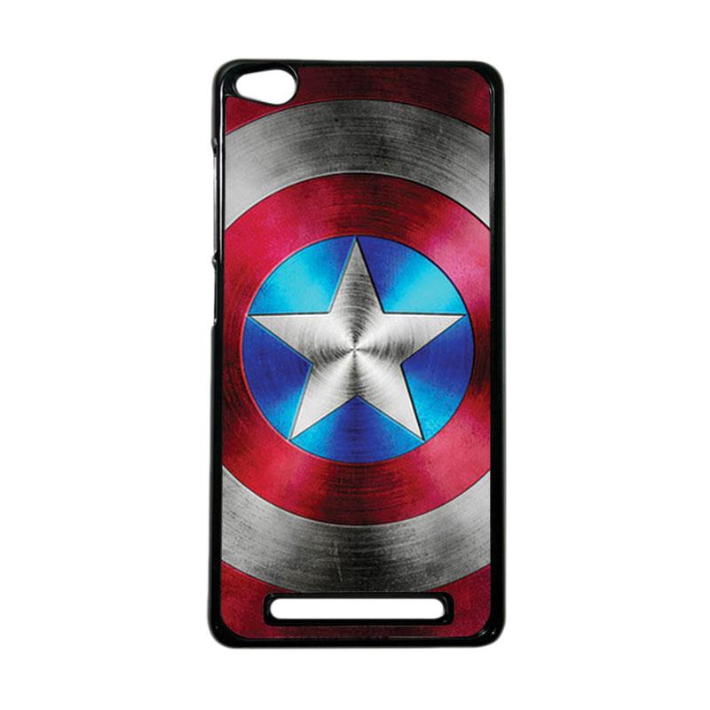 Heavencase Superhero Captain America 01 Hardcase Casing for Xiaomi Redmi 3 - Hitam