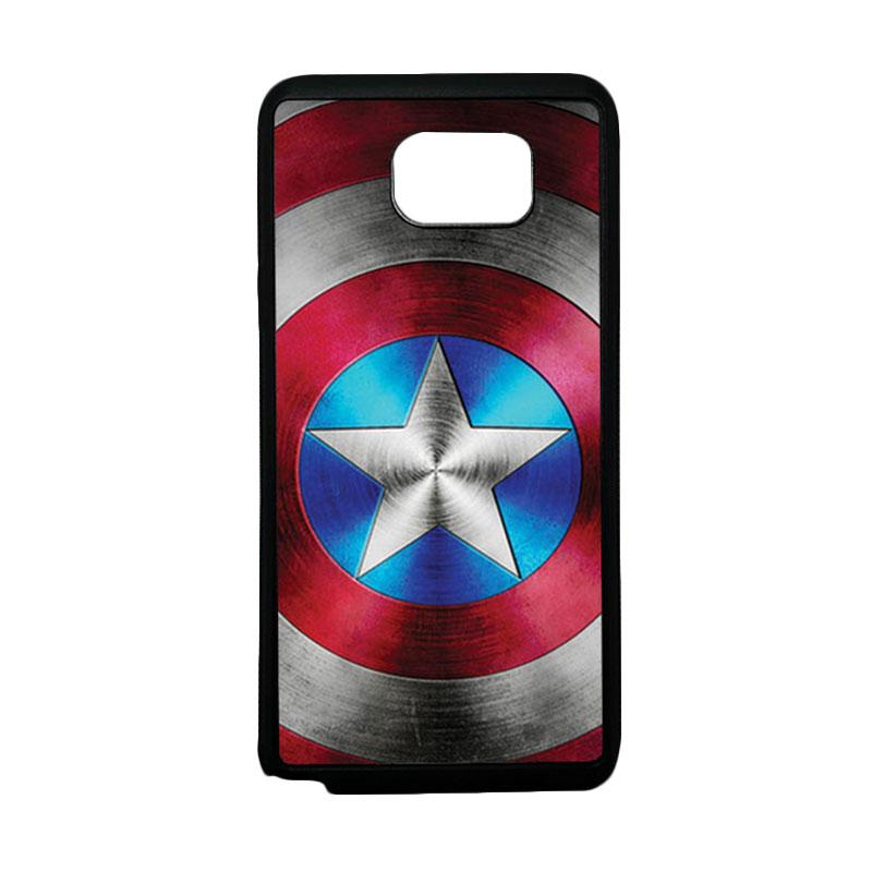 HEAVENCASE Superhero Captain America 01 Softcase TPU Bumper Casing for Samsung Galaxy Note 5 - Hitam