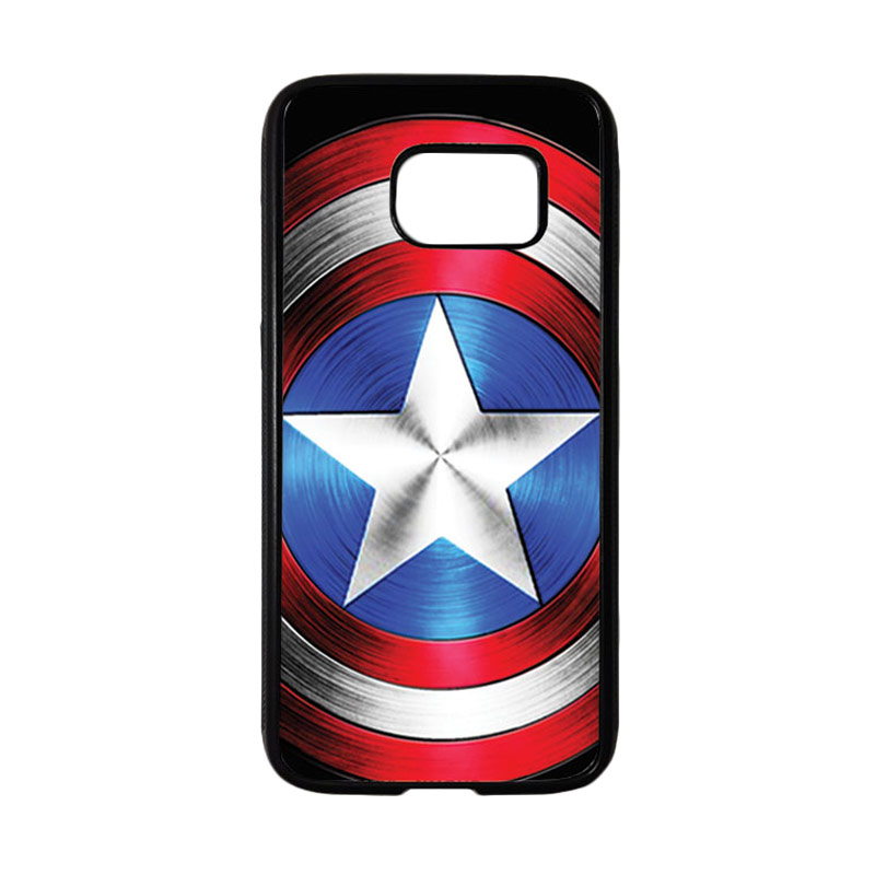 HEAVENCASE Superhero Captain America 02 Casing for Samsung Galaxy S7 - Hitam